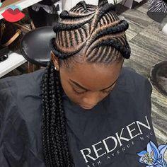 56 Trendy Braids Hairstyles Cornrows Feed In Box Braids Hairstyles, My Hairstyle, African Hairstyles, Girl Hairstyles, Teenage Hairstyles, Braided Hairstyles For Black Women, Braids For Black Hair, Cute Cornrows, Afro Hair Style