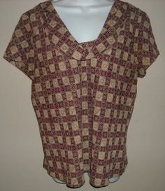 'Studio by Liz Claiborne Printed Top-Size Large ' is going up for auction at  9pm Tue, Mar 12 with a starting bid of $20.