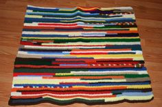 Another scrap yarn blanket - such a good use of all those little pieces