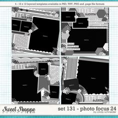 Cindy's Layered Templates - Set Photo Focus 24 by Cindy Schneider 12x12 Scrapbook, Scrapbook Templates, Digital Scrapbooking, Scrapbooking Ideas, Photo Focus, Page Template, Sketches, Memories, Make It Yourself