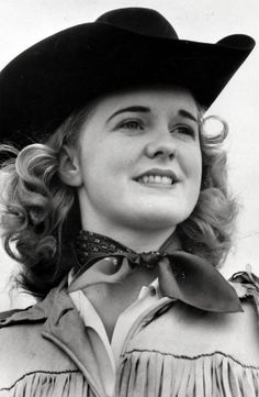 Patsy Rodgers, the first Calgary Stampede Queen in 1946. (also the 2008 Calgary Stampede Parade Marshal at age 82)