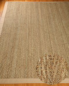 NaturalAreaRugs Natural Fiber Four Seasons Seagrass Rug - Sage/Khaki, Handcrafted, Cotton Border, Non-Slip Latex Backing, x Seagrass Rug, Natural Area Rugs, Natural Rug, My Living Room, Coastal Decor, Coastal Living, Floor Rugs, Home Projects, Home Accessories