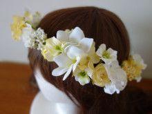 白&ふんわりイエローの花冠♡ |Ordermade Wedding Flower Item MY FLOWER ♪ まゆこのブログ