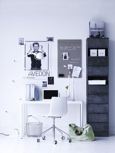 Clean and organized office space.
