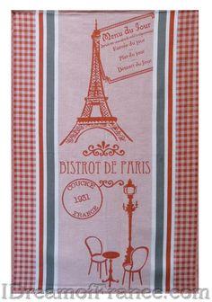 Coucke Bistrot de Paris French Dish Towel - Small Design