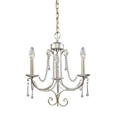 Elk Lighting Cambridge Antique Silver Three Light Chandelier On SALE