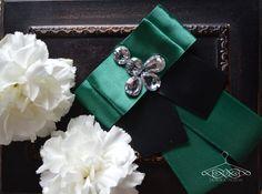 black green smaragd brooch _ handmade by Domka design