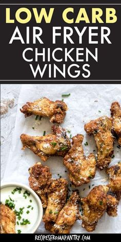 Could You Eat Pizza With Sort Two Diabetic Issues? Crispy Air Fryer Chicken Wings With Parmesan Are A Family Friendly, Crowd Pleasing And Healthy Dish To Serve At Your Next Game Day Get Together Low Carb Chicken Wings, Parmesan Chicken Wings, Low Carb Chicken Recipes, Healthy Low Carb Recipes, Healthy Dishes, Keto Recipes, Chicken Meals, Oven Recipes, Shrimp Recipes