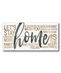 This 'Home' Word Art Wrapped Canvas is perfect! #zulilyfinds