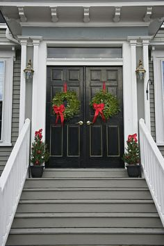 Festive doors in New England