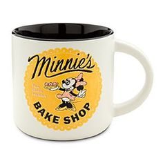 Disney Minnie Mouse Mug - ''Minnie's Bake Shop''   Disney StoreMinnie Mouse Mug - ''Minnie's Bake Shop'' - Minnie's cookin'-up the tastiest coffee in town, served along with her freshly baked treats in retro-style mugs just like this one!