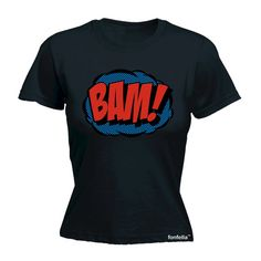 Hey, I found this really awesome Etsy listing at https://www.etsy.com/listing/231770591/womens-comic-bam-fitted-t-shirt-funny