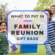 Things For Your Family Reunion Gift Bags - Family reunion - Familie Family Reunion Decorations, Family Reunion Favors, Family Reunion Activities, Family Reunion Invitations, Family Reunion Shirts, Family Reunions, Youth Activities, Planning A Family Reunion, Family Events