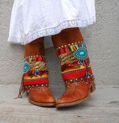 Rustic Genuine Turquoise Earrings Boho Tribal by BohoStyleMe