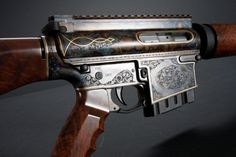Beautiful detailing on this rifle. The wood, the engravings... all of it.