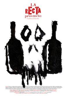 """Afiche: """"La Recta Provincia"""" con técnica de tinta china."""