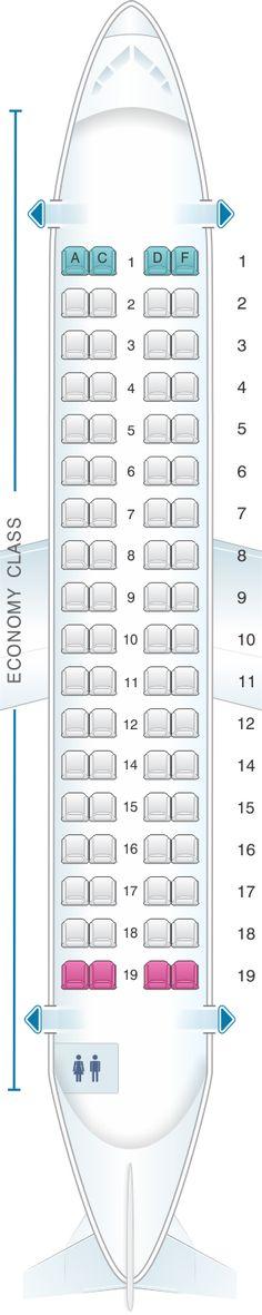 Seat Map ATR 72 600