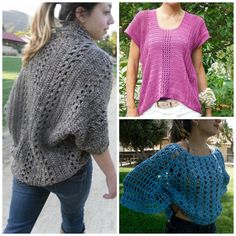 3 Crochet Patterns Discount Sale: Shrug/Cardigan/Sweater/Top