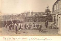 Cranleigh School as viewed from the Prep school in 1894