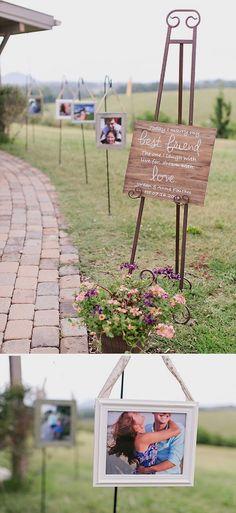 Rizzalie Bernardo saved to WeddingSuch a cute aisle photo op for this darling couple! #diywedding #weddingthemes #weddingideas #wedding
