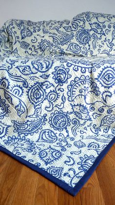 Indigo Bedding // Indigo Kantha Quilt // Indigo by LiveLoveSmile, €80.00
