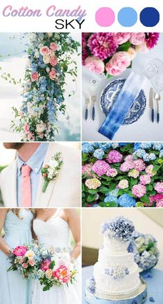 The Top 5 Color Palettes For Your Summer Wedding | Cotton Candy Sky #summerwedding; #summer; #weddings; #color; #palette