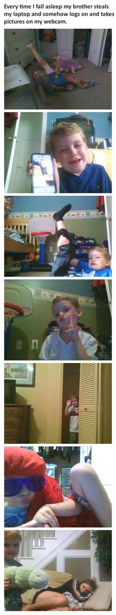 This little brother absolutely killing the selfie game. | 21 Kids Who Gave Absolutely Zero F*cks
