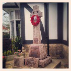 WW1 memorial cross, Swanland village, East Yorkshire