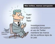 Más twitteo, menos corrupción