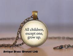 Peter Pan Quote Necklace Peter Pan Pendant by RiverwalkDesigns