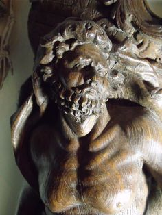 18C Ship HMS Hercules Carved Oak Figurehead Greek Mythology Hercules/Nemean Lion