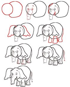 learn to draw an elephant... really it's for Emmalee!!!