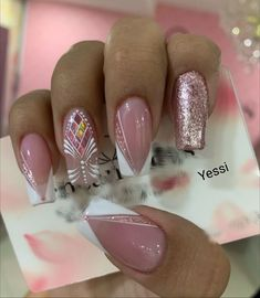 Cute Nails, Pretty Nails, My Nails, Natural Nail Designs, Lines On Nails, Magic Nails, Ballerina Nails, Luxury Nails, Best Acrylic Nails