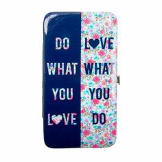Do What You Love Hardcase Wallet | Claire's