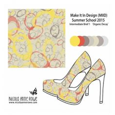 Nicola Anne Rowe | Make It In Design | Surface Pattern Design | Summer School 2015 | Eco Active Organic Decay | Intermediate Creative Brief