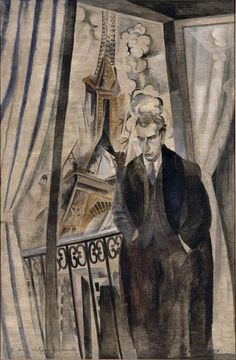 The Poet Philippe Soupault, 1922, Robert Delaunay. French Cubist Painter (1885 - 1941)