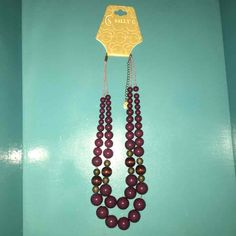 Purple, copper & brown beaded necklace - Mercari: Anyone can buy & sell