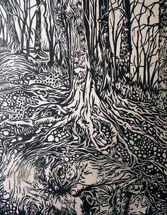 Erin Nolan ~ Mother Earth, 2009 (linocut)