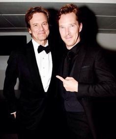 With Colin Firth at the British GQ Man of the Year Awards