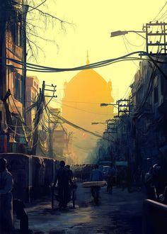 Shadow of the Temple, Tony Hurst on ArtStation at http://www.artstation.com/artwork/shadow-of-the-temple