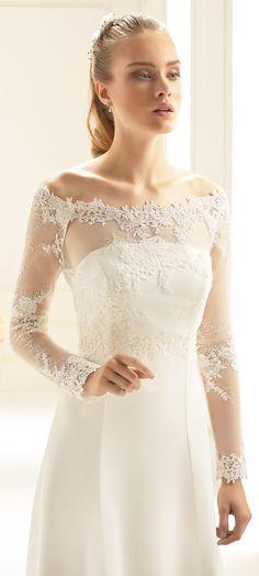fa90ead3f393 Our bolero E256 with floral lace  biancoevento  biancobride  wedding   weddingdress  weddingideas