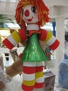 Como fazer boneco com tampinhas de garrafa 009