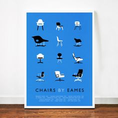 Iconic Chairs Print   dot and bo