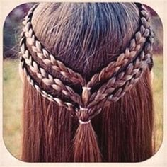 Three small braids pulled together, to make a really cute teen/tween girl hairst. Three small braids pulled together, to make a really cute teen/tween girl hairstyle! Cool Hairstyles For Girls, Up Hairstyles, Hairstyle Ideas, Halloween Hairstyles, Simple Hairstyles, Natural Hairstyles, Pinterest Hairstyles, Elvish Hairstyles, Wedding Hairstyles