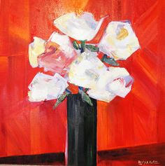 "Saatchi Art Artist Lee Bowers; Painting, ""White Floral"" #art"