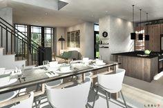 Plan de Maison Moderne Ë_140 | Leguë Architecture Plane, Small Modern Home, Best Investments, Architecture, Modern Farmhouse, Home Remodeling, House Plans, Cottage, How To Plan