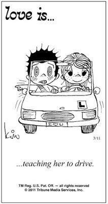 Pensamentos, Citações e Coisas do Género... Thoughts, Quotes and Those Sort of Things...: Amor é... ensinando-a a conduzir.