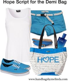 """""""Hope Script for the #Miche Demi Bag"""" Some of the Hope shell proceeds go to the charity Autism Speaks in April."""