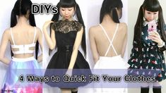 DIYs: 4 Ways to Quick Fit Your Clothes   Baggy to Fitted & Long to Short