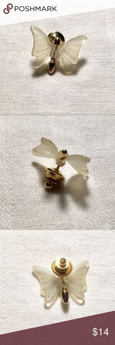 Vintage Avon Butterfly Lapel Pin Vintage Avon gold tone butterfly lapel pin with plastic wings that move. Signed Avon. Jewelry Brooches